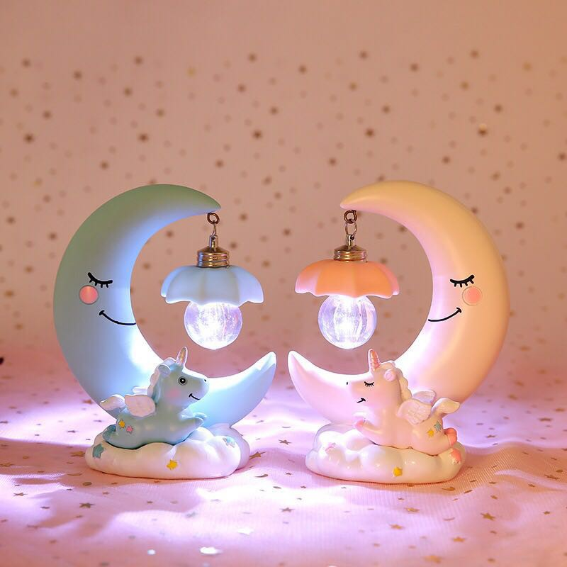 Lampu Tidur Led Bentuk Kartun Unicorn Lucu Untuk Kamar Tidur Anak Perempuan  | Shopee Indonesia