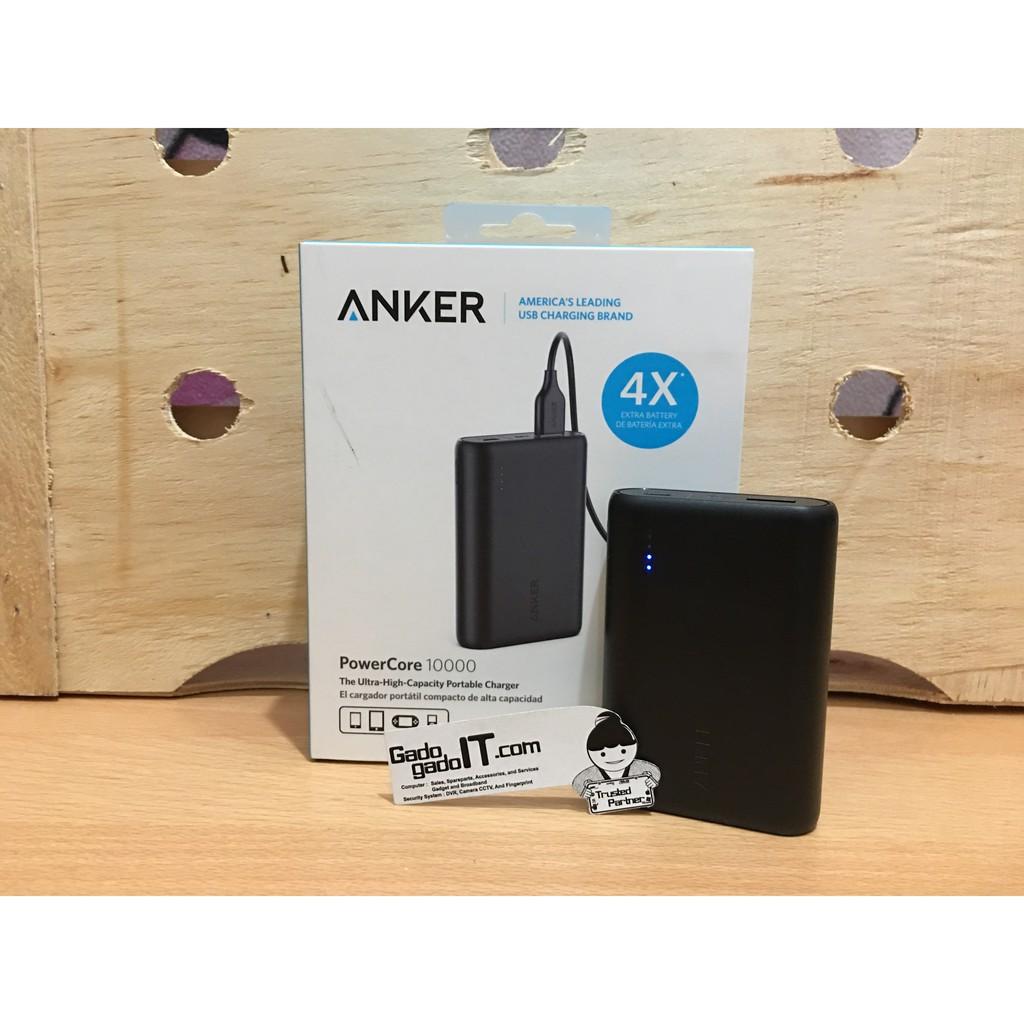 Anker Powerbank Powercore 10000mah Hitam A1263h11 Shopee Indonesia 5000 Un White A1109021