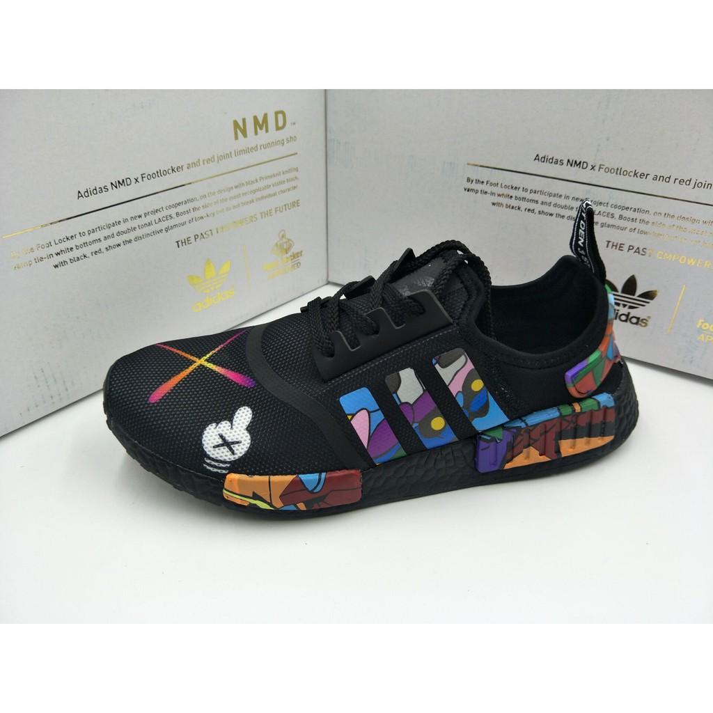 a5f7dc89f9f0d Sepatu Adidas NMD R1 x Kaws Black Premium Quality