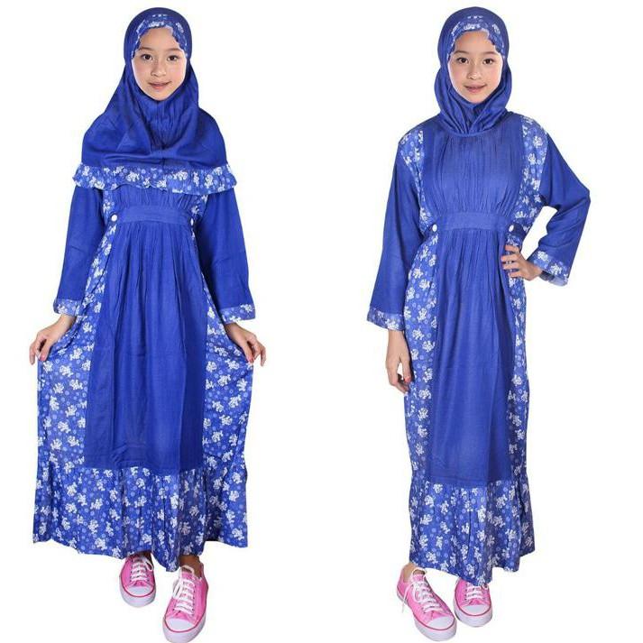 FAYRANY BUSANA MUSLIM ANAK GAMIS MOTIF FGM-001D - BIRU ~ BAJU MUSLIM ANAK | Shopee Indonesia