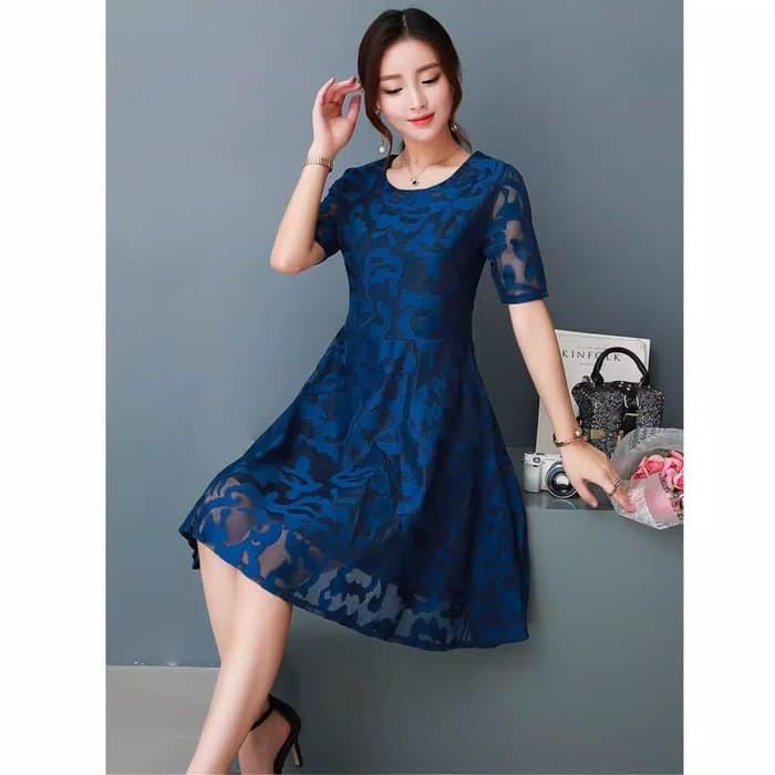 Perbandingan Harga Dress Midi Terusan Gaun Pesta Wanita Korea Import