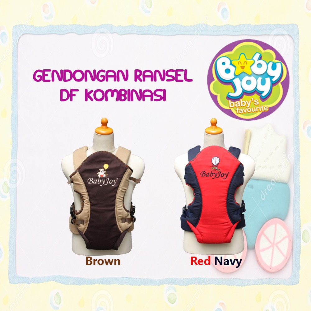 Baby Joy Gendongan Ransel DF Kombinasi Aplikasi Bordir - BJG300200 | Shopee Indonesia