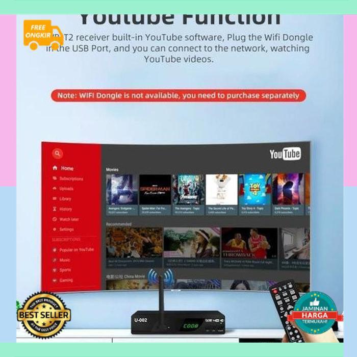 Cod EZ-BOX Set Top Box DVB-T2 Terbaru KKerenlitas Top Harga Termurah Digital Best Seller