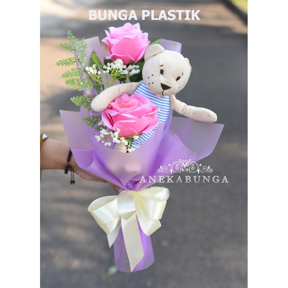 Hand Bouquet Bunga Asli Fresh Flower buket ulang tahun birthday bucket  anniversary graduation SP13  f8db891214