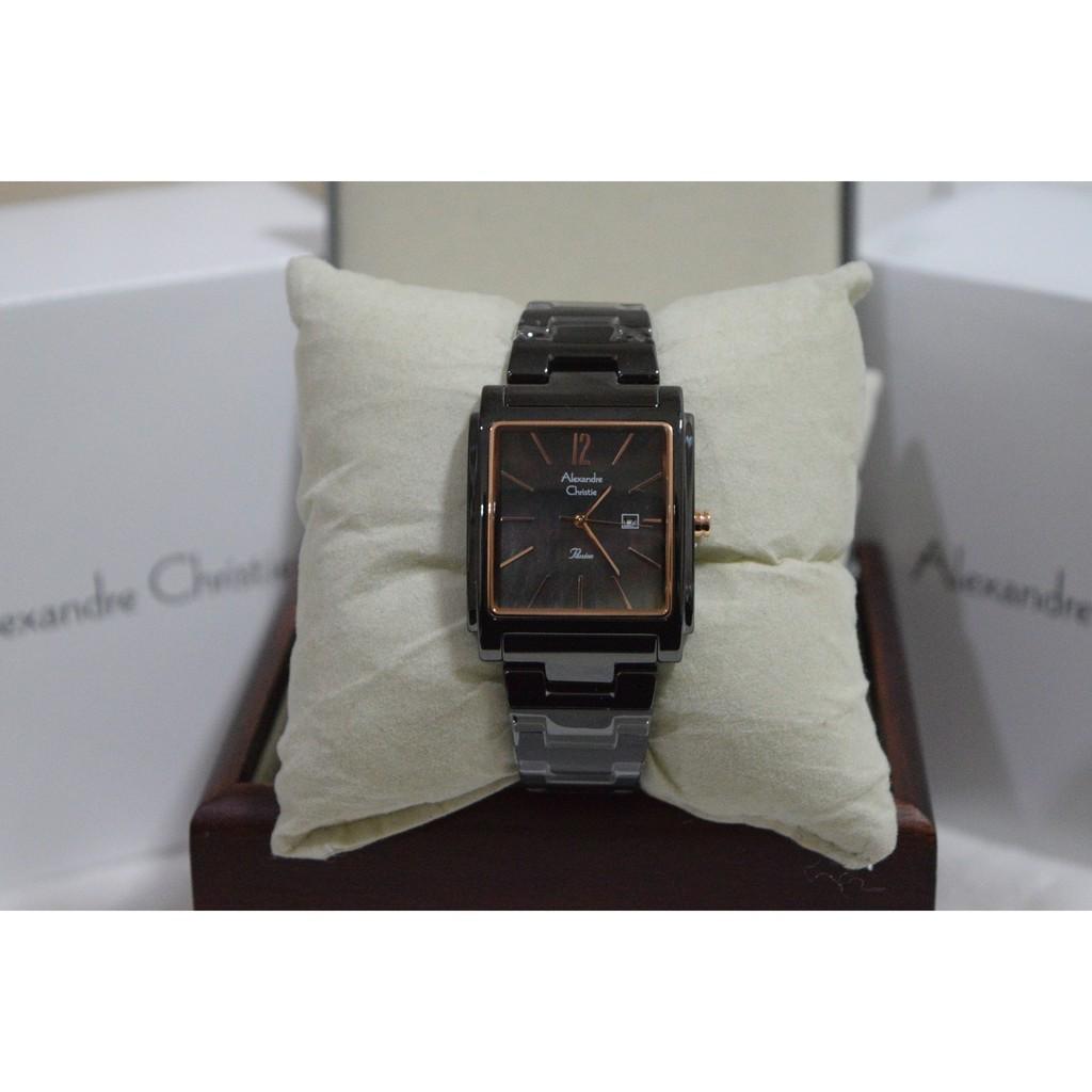 Alexandre Christie AC 2562 Ceramic Rose Gold White for Ladies Original | Shopee Indonesia