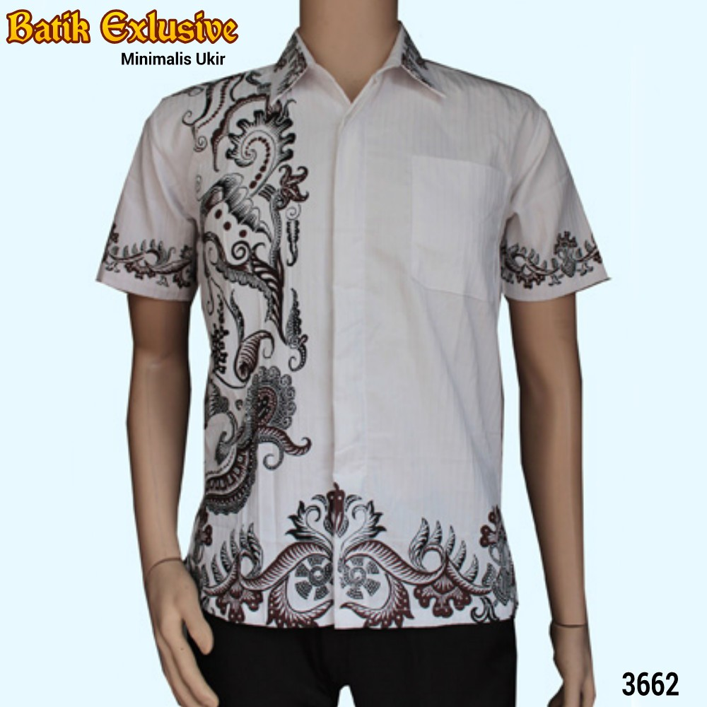 Kemeja Lengan Pendek Hem Batik Hks001 08pm Daftar Harga Terlengkap 03 Jual Baju Pria Modern Pekalongan Motif Wayang Blok