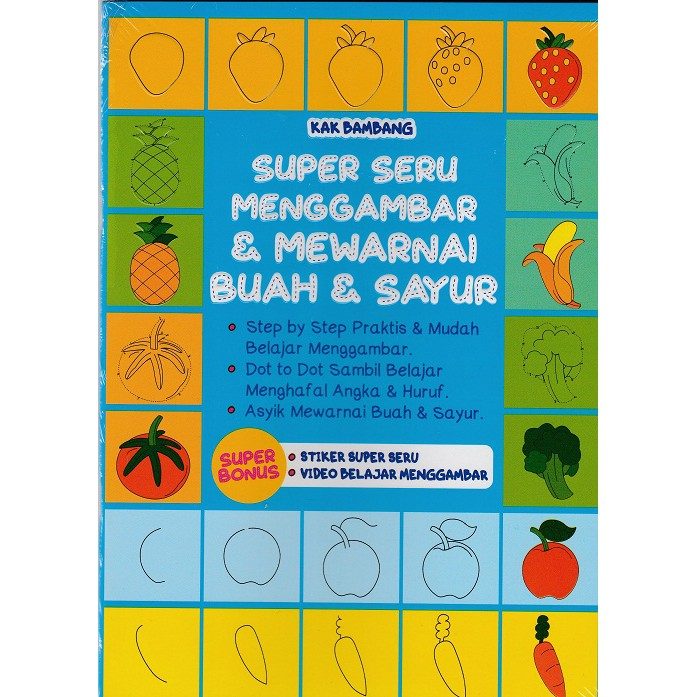 Paud Mewarnai Buah Dan Sayur Shopee Indonesia