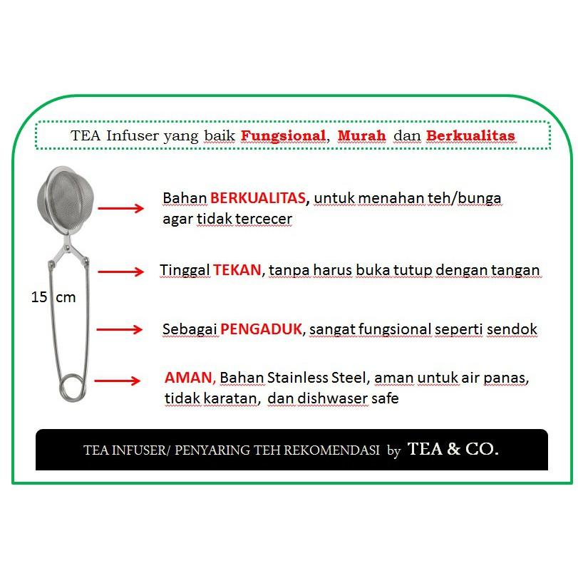 PROMO Tea Infuser / Penyaring teh IKEA IDEALISK / saringan teh / sendok teh WNO | Shopee Indonesia