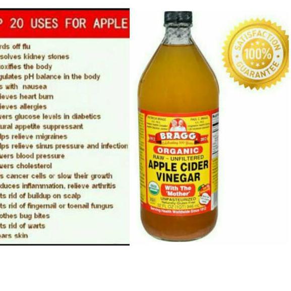 Shopee 2 2 W 785 Bragg Apple Cider Vinegar 946 Ml Ukuran Besar Shopee Indonesia
