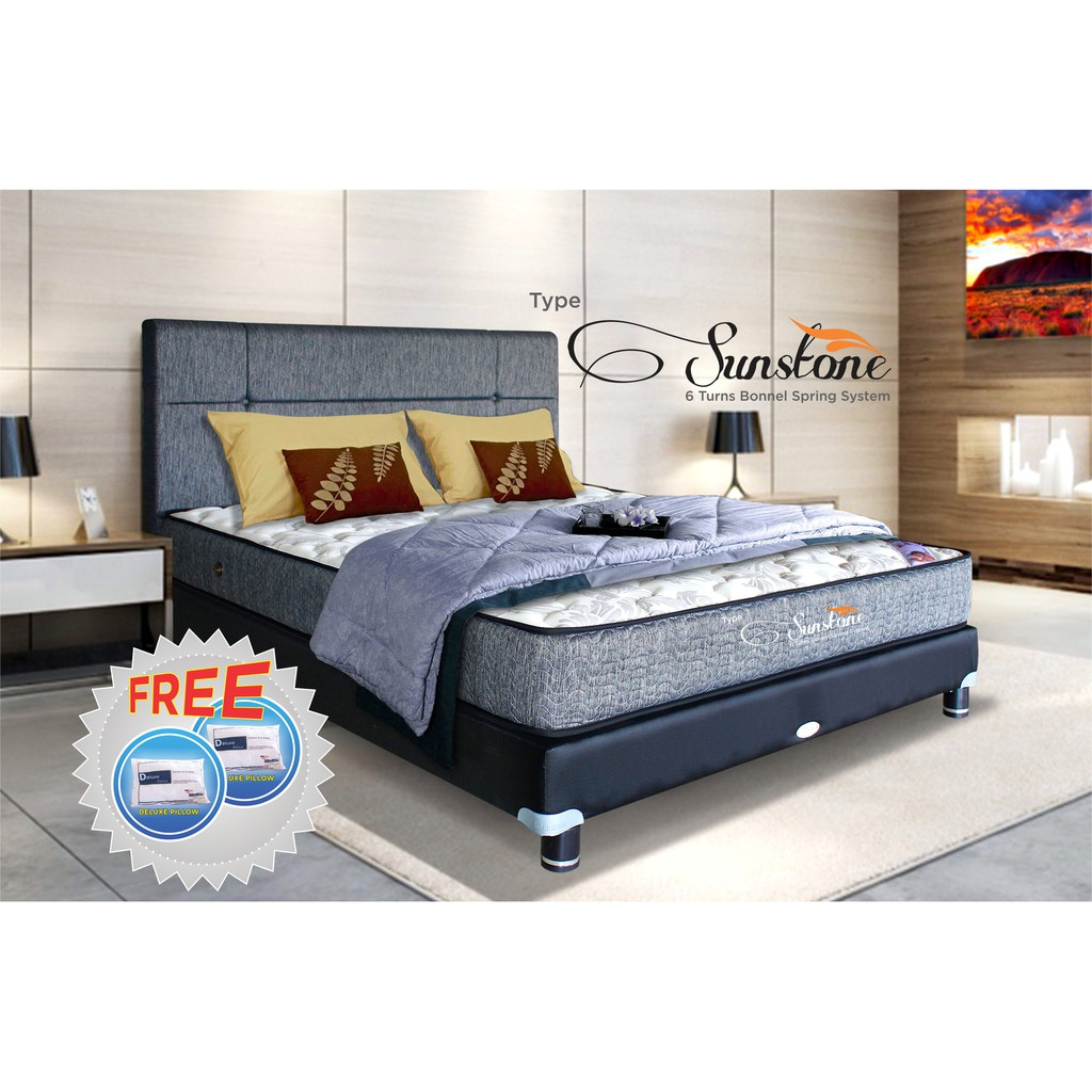 Point Kasur Spring Bed Standard 160x200cm Khusus Jabodetabek Finiland Galaxy White Pillow Top Bonnel Mattress Only The Luxe Reveire Moon 100x200 Shopee Indonesia