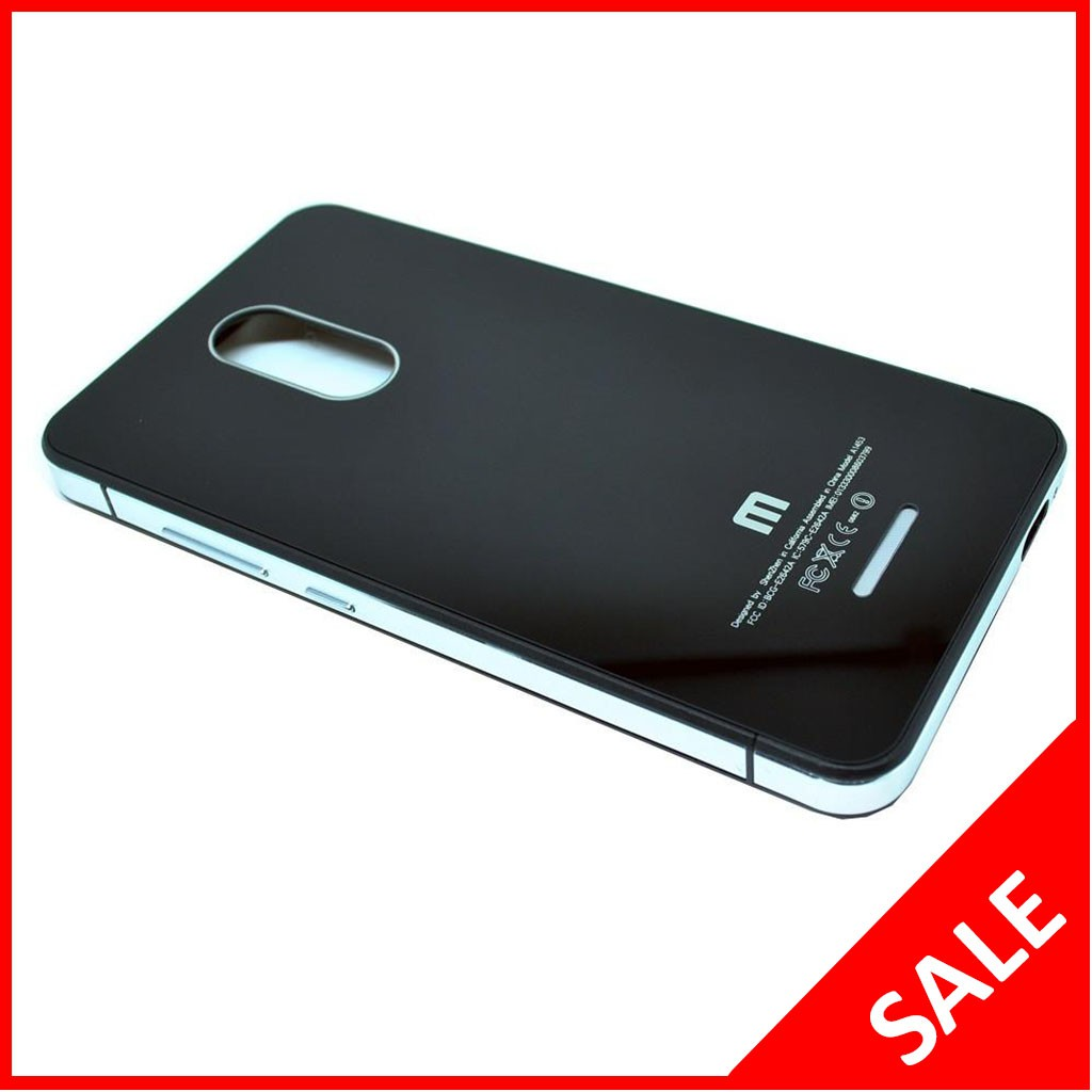 Aluminium Tempered Glass Hard Case Xiaomi Redmi Note 3 / Note 3 Pro Black/silver | Shopee Indonesia