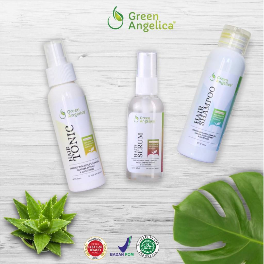 Obat Rambut Green Angelica Penumbuh Botak Shopee Indonesia Gratis 1 Tas Cantik Rontok Herbal