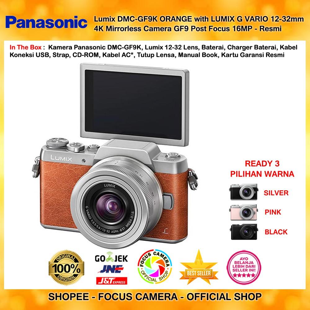 Panasonic Lumix Dmc Gf9k Pink G Vario 12 32mm 4k Mirrorless Gf8 Kit Paket Camera Gf9 Post Focus 16mp Resmi Shopee Indonesia