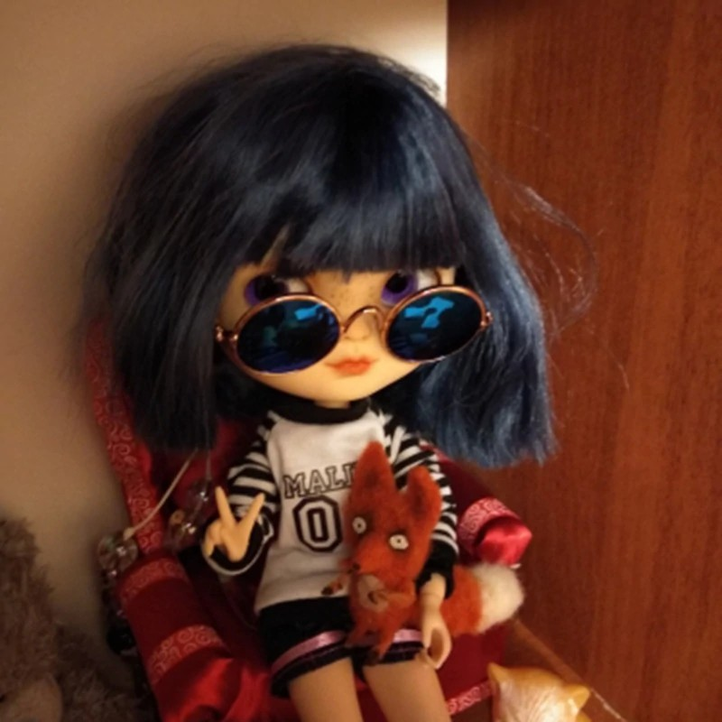 Doll Cool Glasses Pet Sunglasses For BJD Blyth Grils American Toy Photo Props