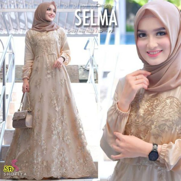 Gamis Syari Wanita Muslim Modern Busana Cewek Muslimah Pakaian Dress Wanita Busana Muslim Pesta Shopee Indonesia