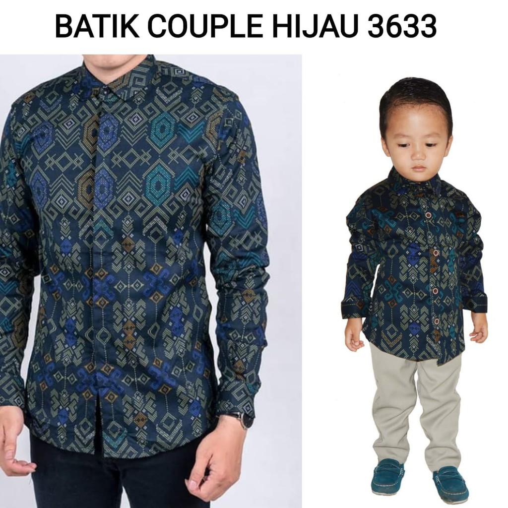 Jnjkidstore Batik Coeple Ayah Dan Anak 3633