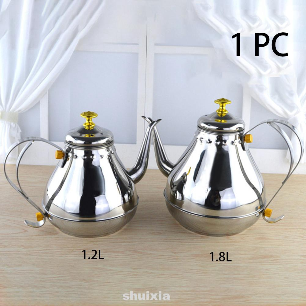 Non Magnetic Drinking Kettle Party Vintage Small Outlet Home Office Stainless Steel Coffee Pot Shopee Indonesia