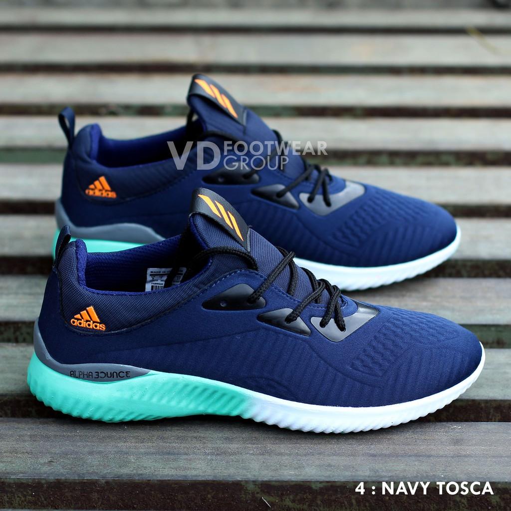 Sepatu Sneakers Adidas Alphabounce Tubular Warna Putih Polos | Shopee Indonesia