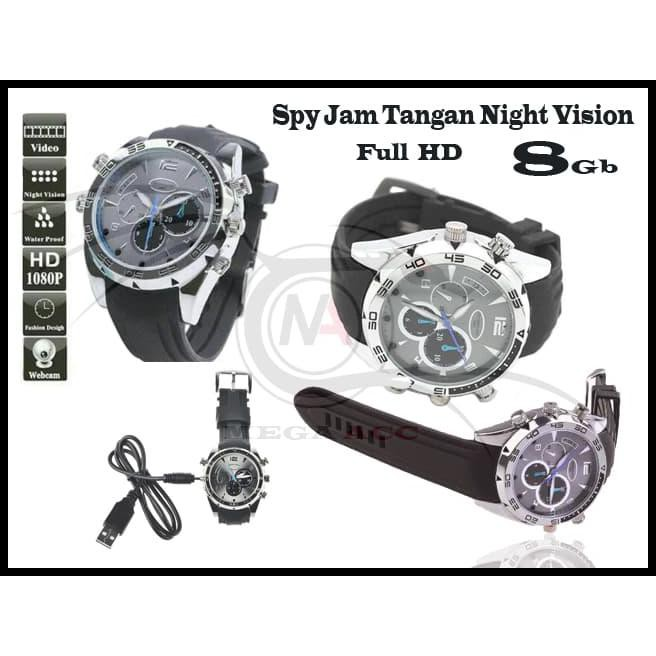 Spy Cam Camera Jam Tangan Watch Night Vision FULL HD 32GB (Infrared) | Shopee Indonesia