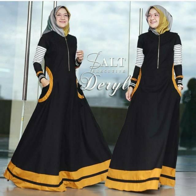 Gamis amanda dress renda maxidress baloteli busana muslimah baju muslim wanita  fashion grosir ecer  73dbcad643