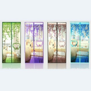 Tirai anti nyamuk magnet pintu Magnetic Curtain Magic Mesh Pelindung motif baichuan