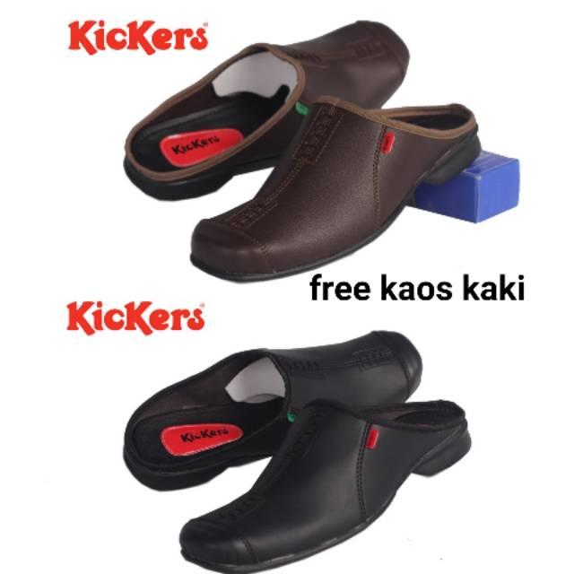 Sepatu Sandal Pria KICKERS CHAPRA Terlaris SENDAL COWOK Slop Casual Trendy  Bustong Kulit Sintetis  52750e53f6
