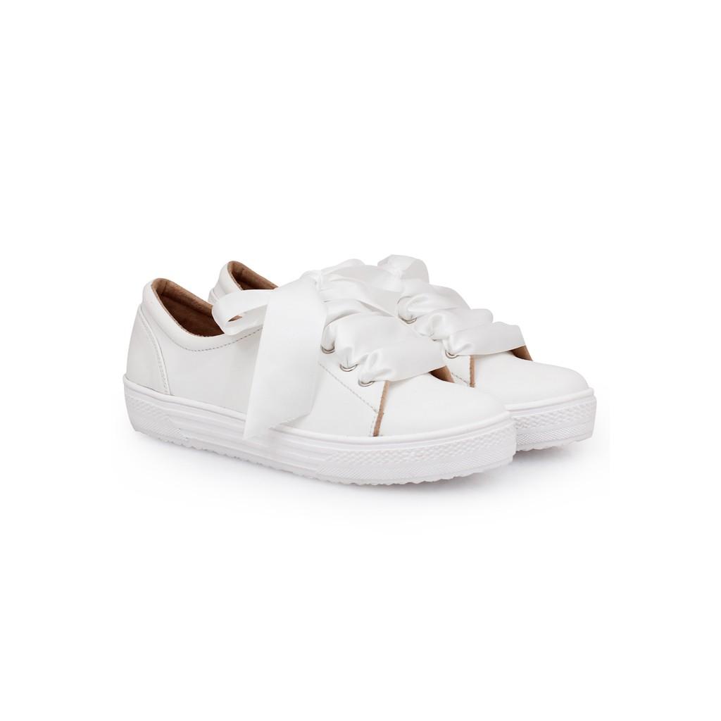 Khakikakiku Jane White With Ribbon Shopee Indonesia Amazara Vanessa Almond Sneakers Beige 36