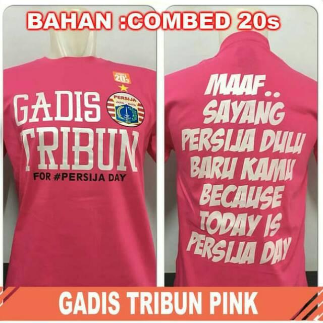 New 7 PILIHAN MOTIF Baju persib wanita warna pink kaos gadis tribun kaos persib hijab | Shopee Indonesia