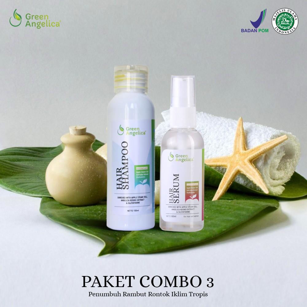 Obat Rambut Rontok Parah Bagi Wanita Green Angelica Combo 1 Shopee Gratis Tas Cantik Penumbuh Botak Herbal Indonesia