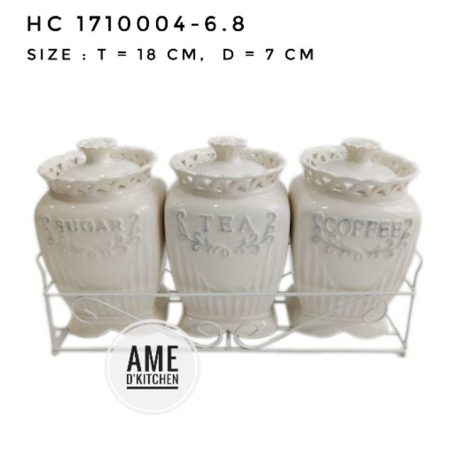 Toples set isi 3 keramindo + rak HC 1710004-6.8