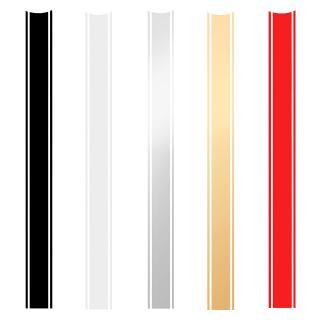 Gold Red 2x Motorcycles Tank Fairing Hood Vinyl Vinyl Stripes Sticker For Cafe Racer
