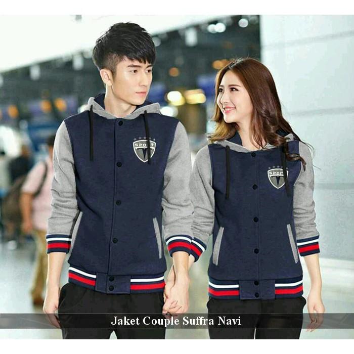Jaket Couple Simple sweater pasangan kapel kopel Busana Couple Trendy Boy  Donker Hitam  388110414d