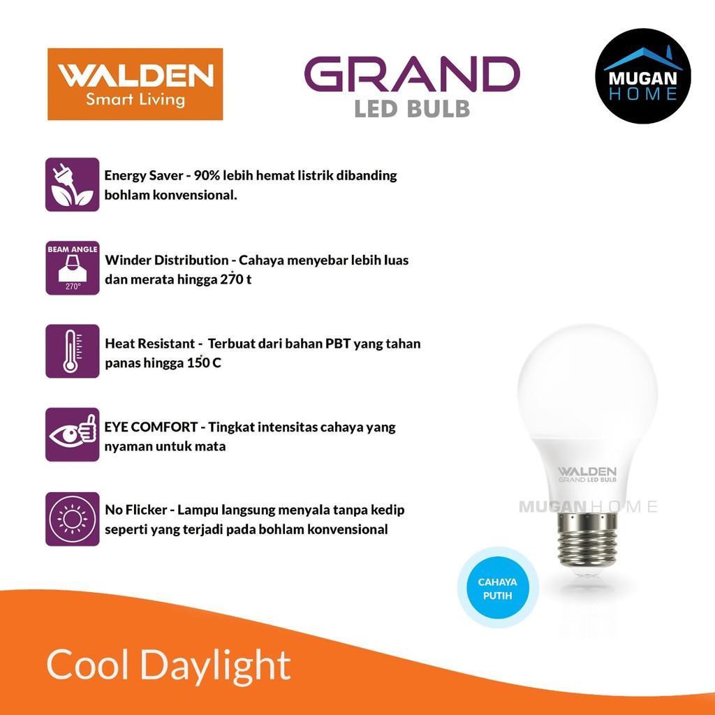 Lampu Bohlam Led Walden 9 Watt Putih Cool Daylight Harga Grosir Shopee Indonesia