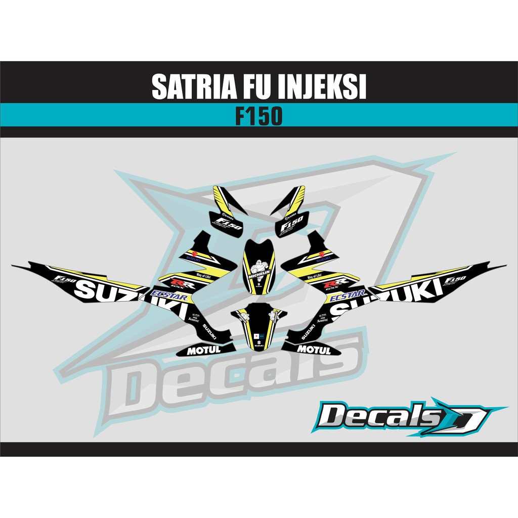 Decal Sticker Satria Fu Injeksi F150 2
