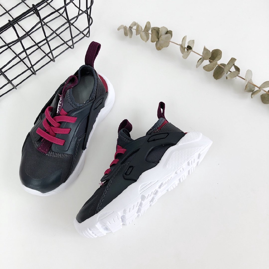 Sepatu Sneakers Desain Nike Air Huarache Run QS untuk Anak Perempuan