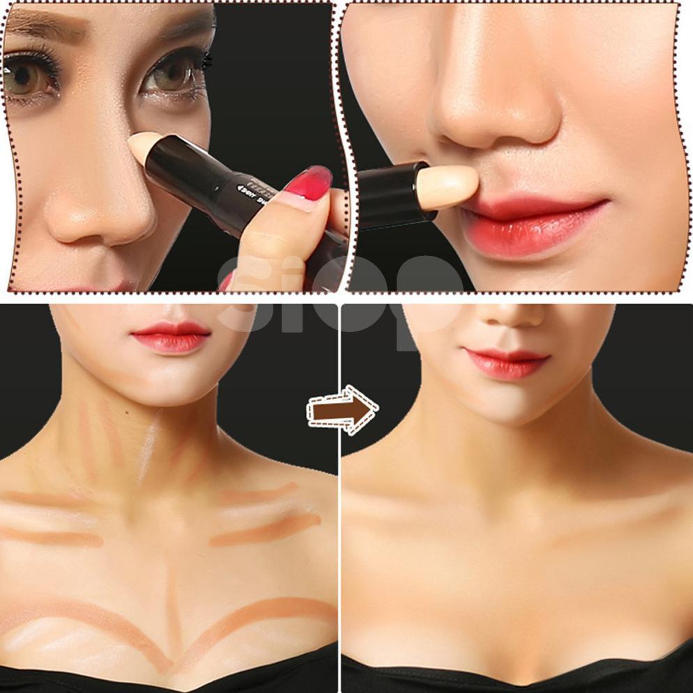 New Arrival Bioaqua 109 Stick 3d Face Makeup Concealer Highlighter Look Beauty Lift Up Belt Pink Peramping Pipi Contouring Murah Shopee Indonesia