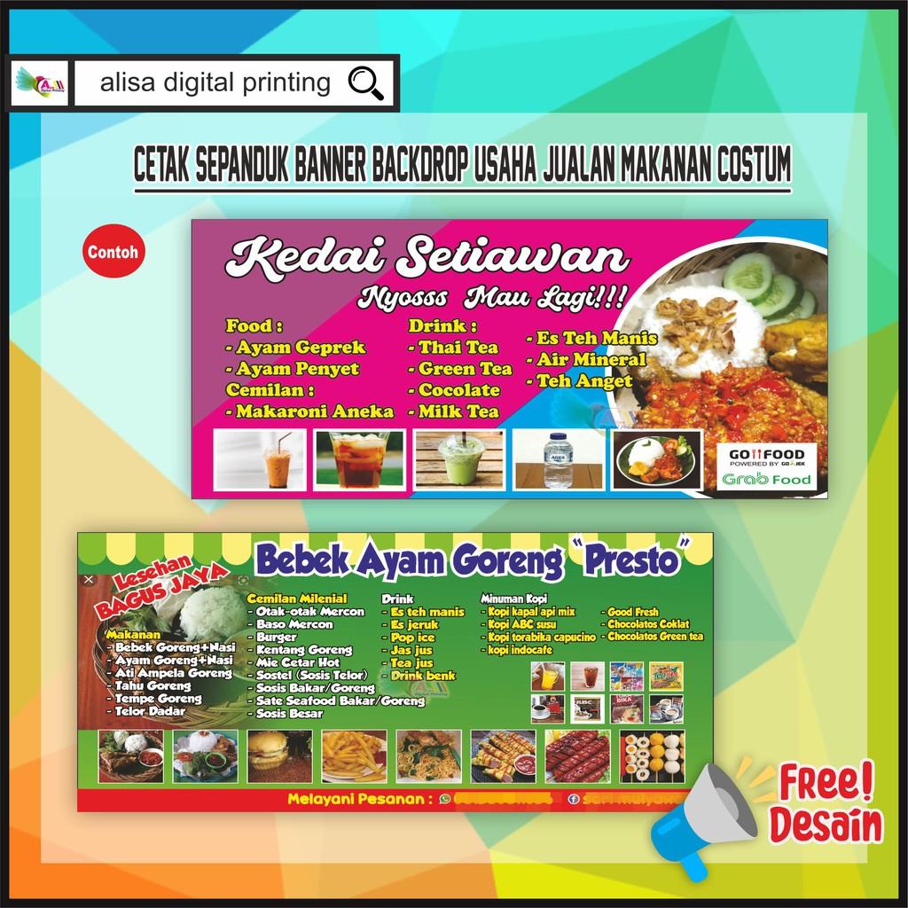 baliho spanduk usaha makanan costum shopee indonesia baliho spanduk usaha makanan costum