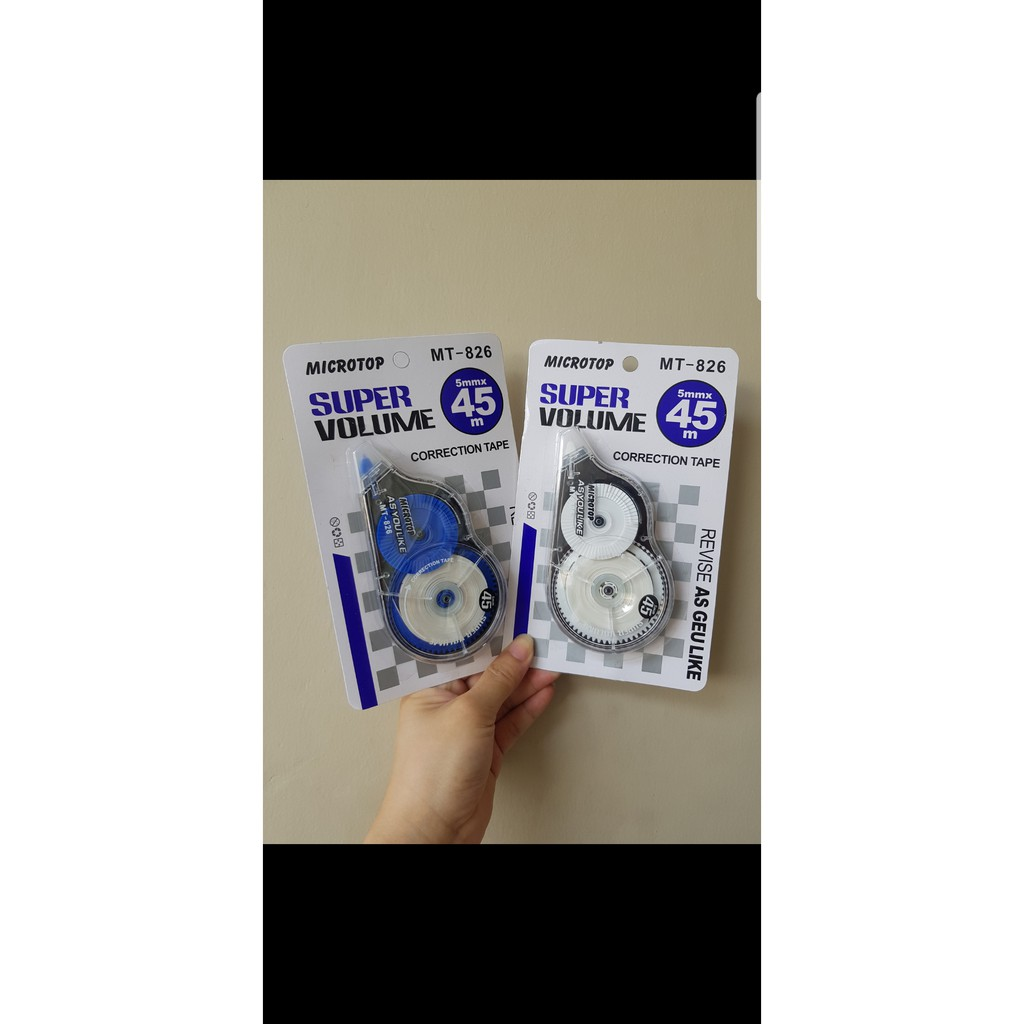 Correction Tape (Tipex) Hangli Super Volume 0.5mm (45meter) CR-826   Shopee Indonesia