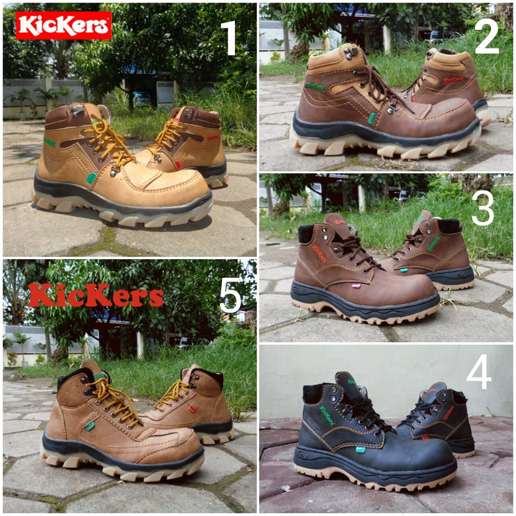 Sepatu Kickers Boots Safety Pria Build Up Series  61b21f5cad