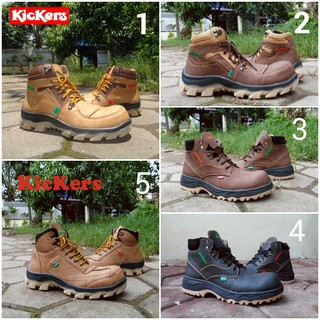 Sepatu Kickers Boots Safety Pria Build Up Series  99cc2a88f5