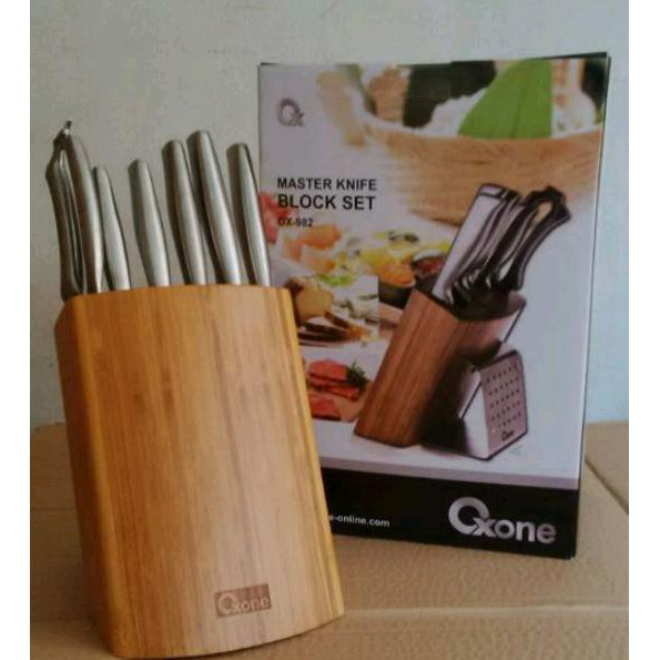 Oxone Master Knife Block Set Perlengkapan Dapur Pisau Set Super Tajam Ox 982 | Shopee Indonesia