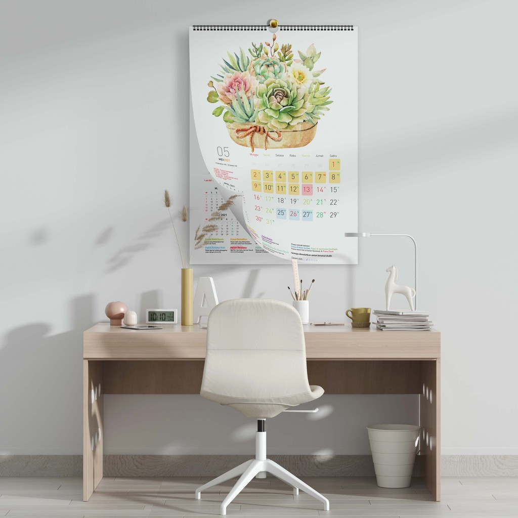 2021 Kalender Puasa, Kalender Dinding SPIRAL dan KLEM BESI ...
