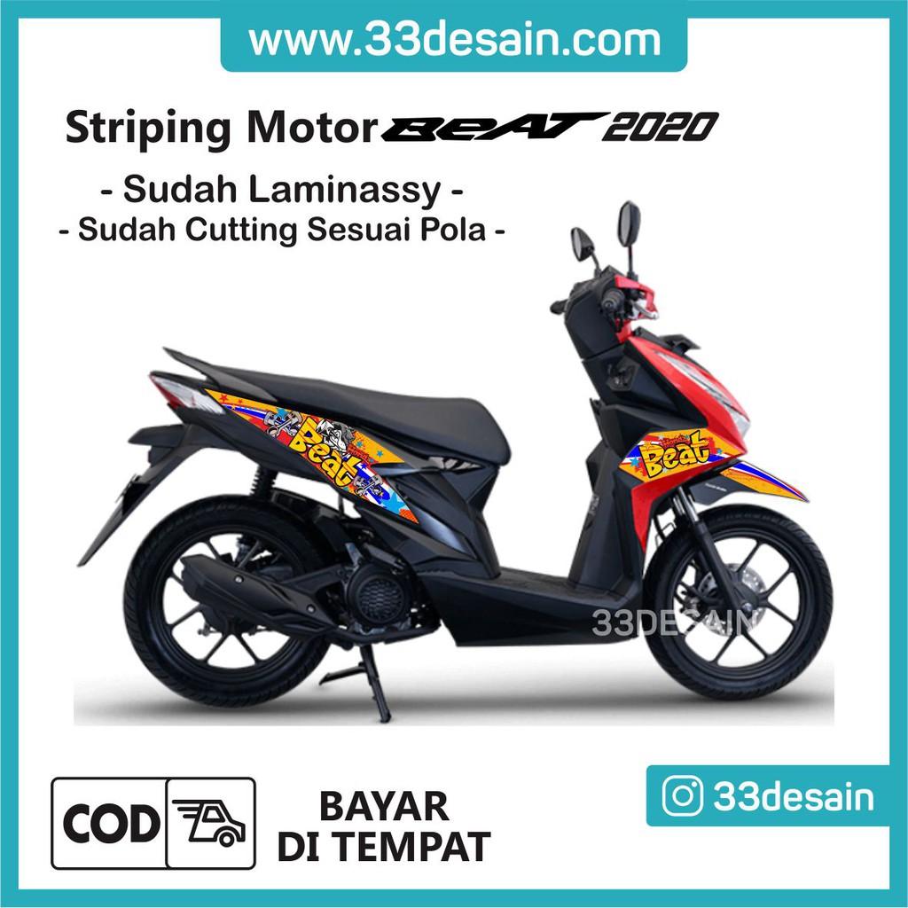 Aksesoris Stiker Motor Sticker Striping Motor Beat 2020 Variasi Beat 20 33desain Shopee Indonesia