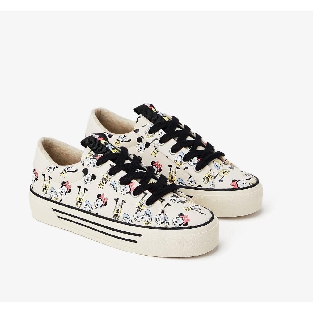 Zara Kids Mickey Minnie Mouse Shoes Sepatu Sneaker Anak Perempuan
