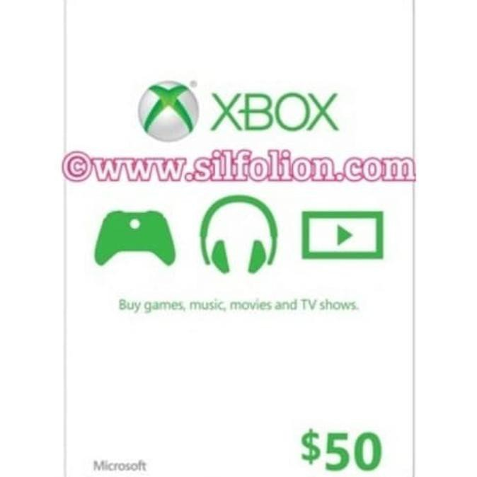 Xbox Live Gift Card .