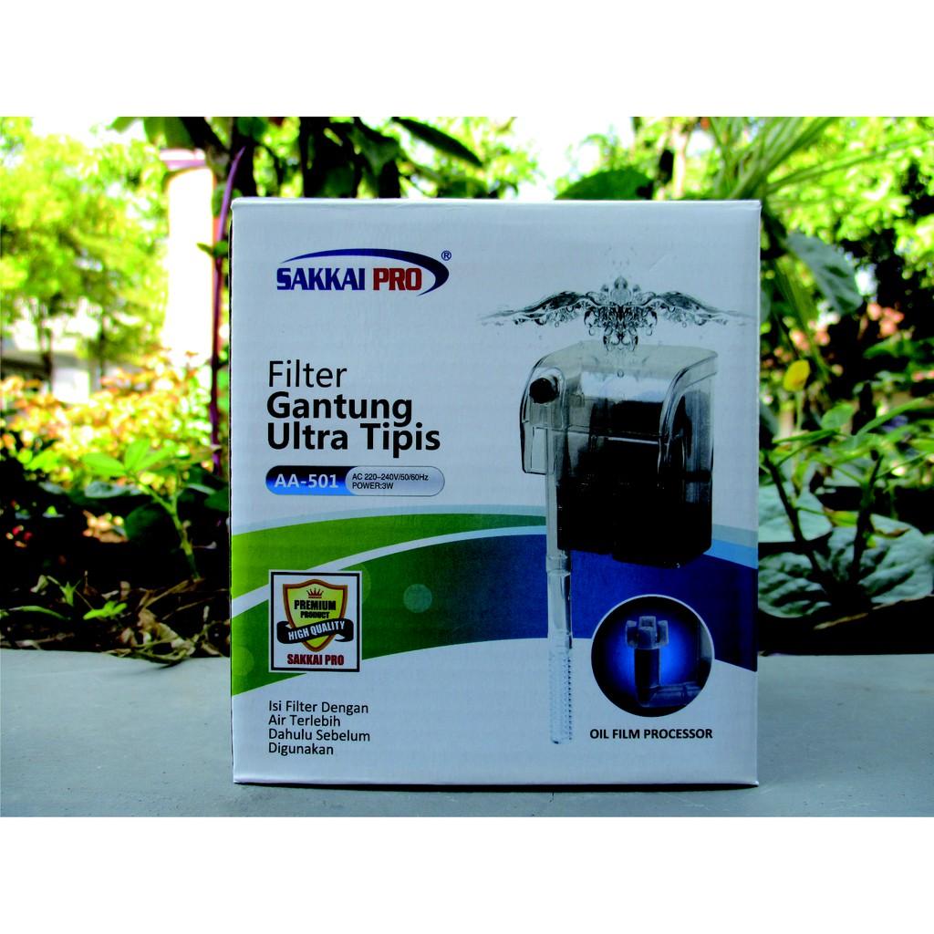 Pompa filter gantung aquarium SAKKAI PRO AA 501   Shopee ...