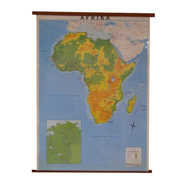 Terlaris Peta Benua Afrika Bingkai Shopee Indonesia