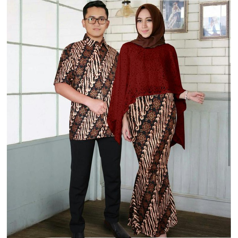 Model Baju Muslim Gamis Terbaru Dan Modern Couple Duyung Brukat
