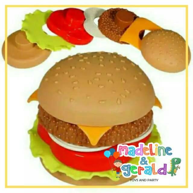 Mainan Stacking Burger Anak Masak Masakan Shopee Indonesia