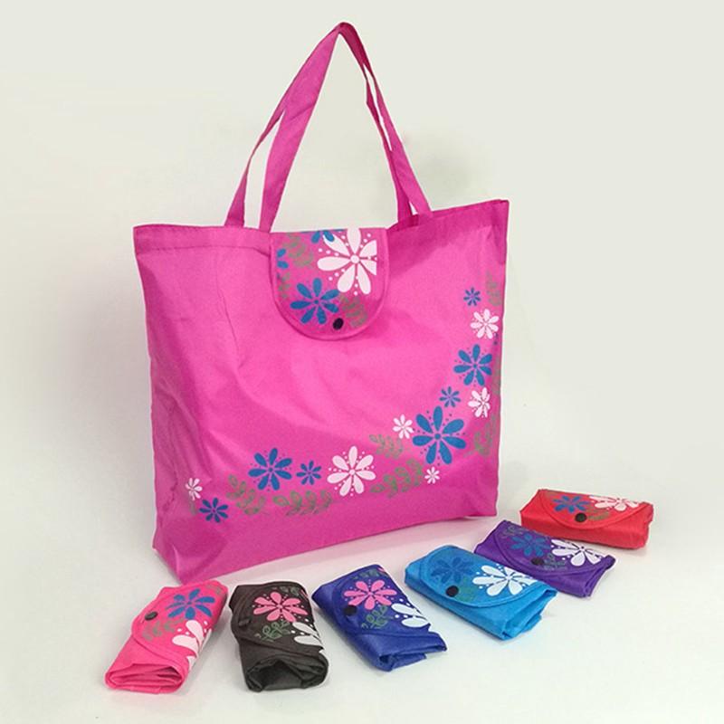 Creative Reusable Folding With Tote Handbag Shopping Bag Oxford Cloth Bags